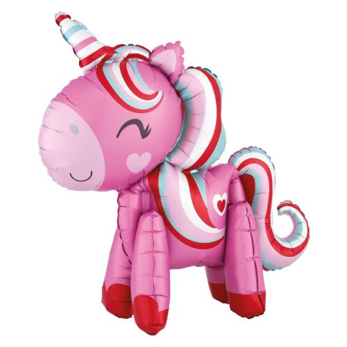 "Unicorn Magical Love Standing Ez-Fill Multi-Balloons 22""/55cm x 21""/53cm"